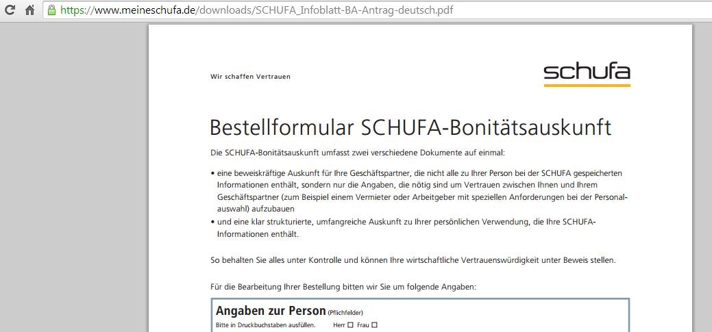 Schufa Post