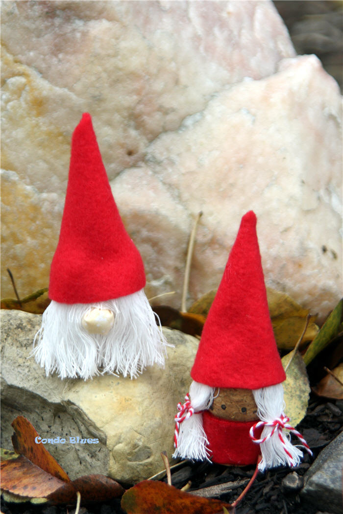 Condo Blues How To Make Wine Cork Christmas Gnome Decorations