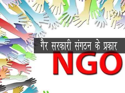 गैर-सरकारी संगठन के प्रकार | Types of NGOs in Hindi
