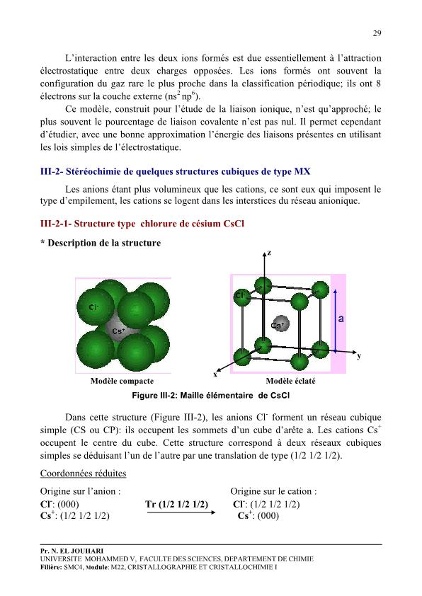 cristallographie et cristallochimie