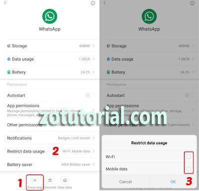 Cara OFF WA Tanpa Mematikan WiFi dan Data Internet by zotutorial.com