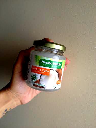 umectacao com oleo de coco