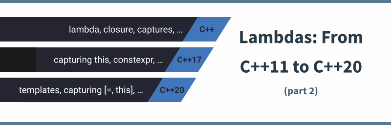 Bartek's coding blog: Lambdas: From C++11 to C++20, Part 2