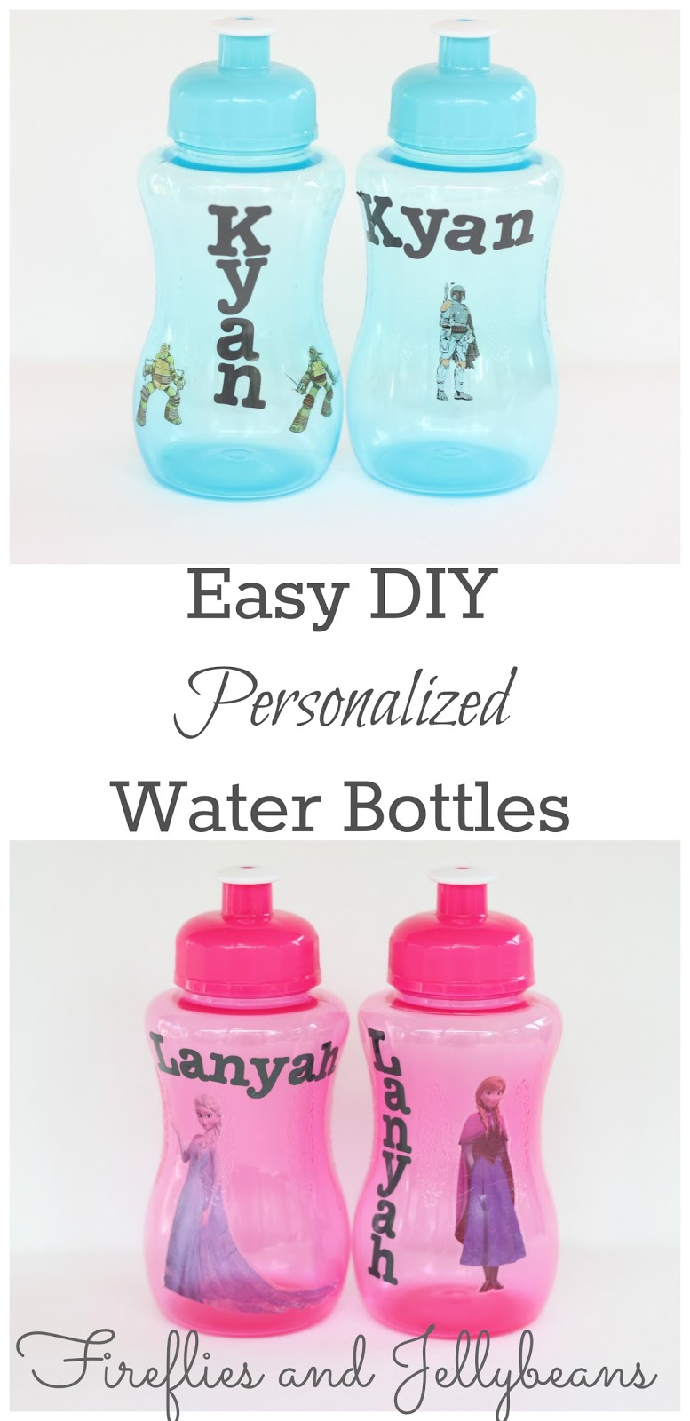 Fireflies And Jellybeans Easy Diy Personalized Water Bottles Back