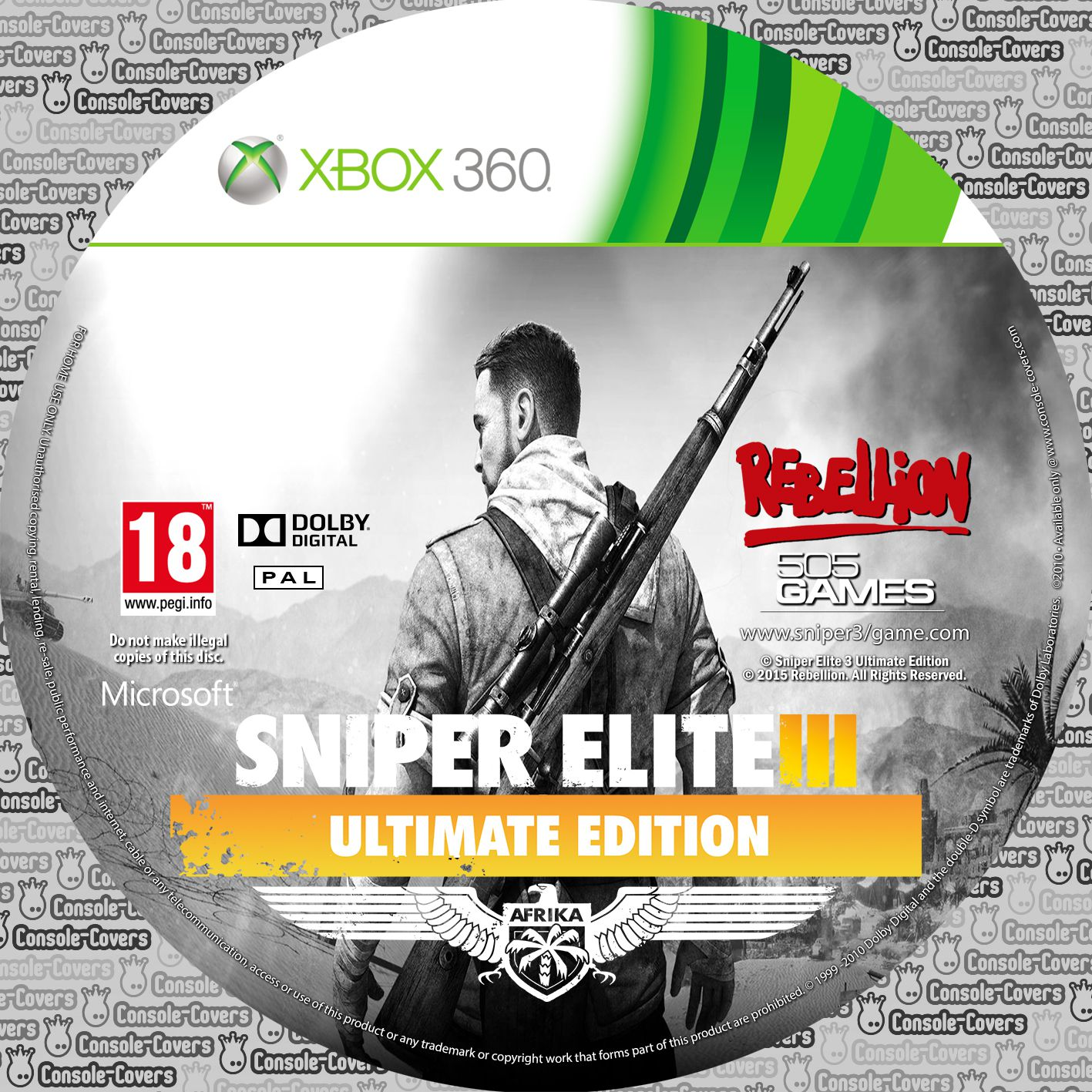 Label Sniper Elite 3 Ultimate Edition Xbox 360