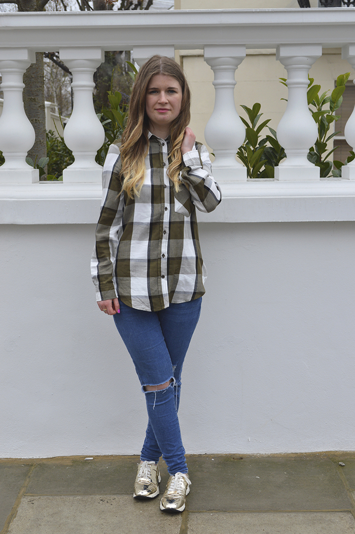 zara check shirt fashion bloggers
