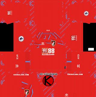 A.F.C. Bournemouth 2019/2020 Kit - Dream League Soccer Kits