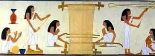 Egyptians Weaving