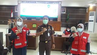 Gelar Kegiatan Donor Darah, Kejati Bekerjasama dengan PMI Lampung