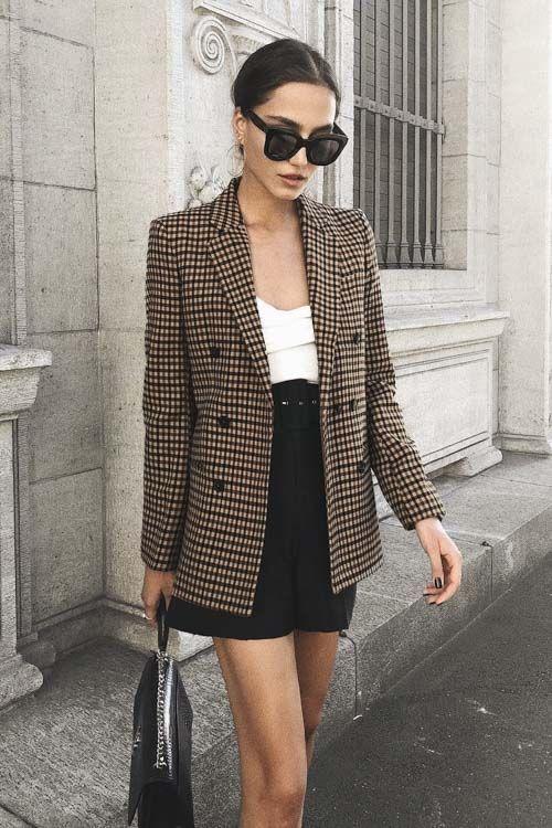 Looks com blazer xadrez: inspirações para você arrasar! - Beleza Make