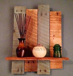 hiasan dinding kreatif dari kayu bekas
