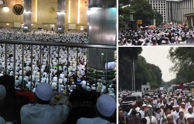 Peserta aksi di Masjid Istiqlal dan sekitarnya