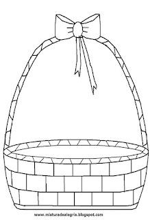 Desenho de cesta para colorir