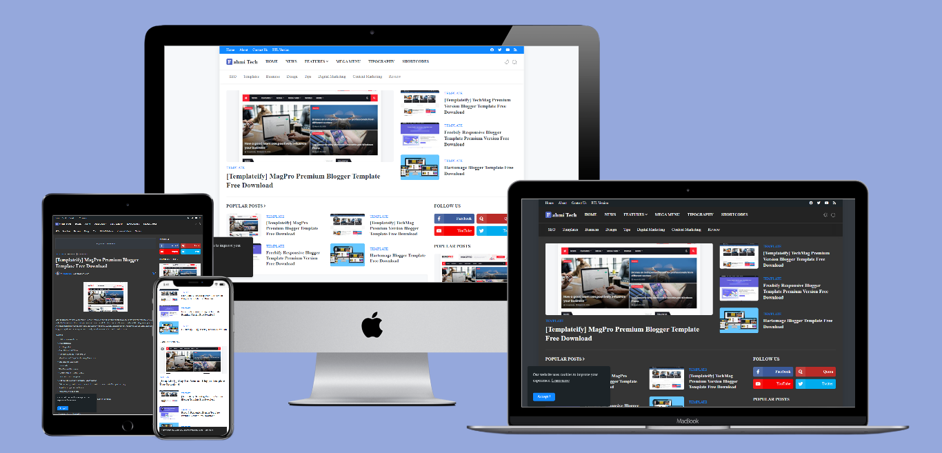 Download Supermagz Redesign Premium  Blogger Theme