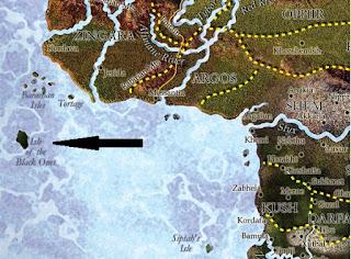 A fekete óriások tava szigete