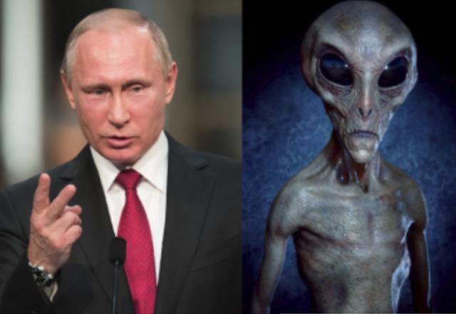 Acusan a Vladimir Putin de ser un alienigena
