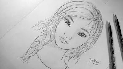 صور رسم وجه بنت