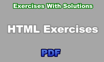 HTML Exercises With Solutions PDF