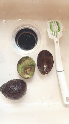 how to clean avocado skins