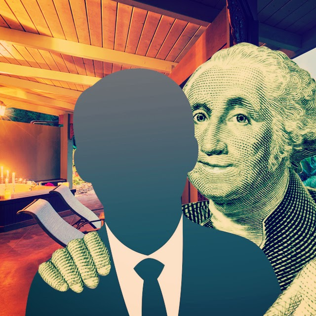 Instagram picture of Benjamin Franklin with his arm around 'The Man'
