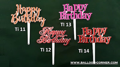 Cake Topper Acrylic HAPPY BIRTHDAY