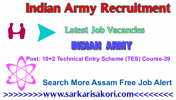 Indian Army Recruitment 2017 10+2 Technical Entry Scheme (TES) Course-39