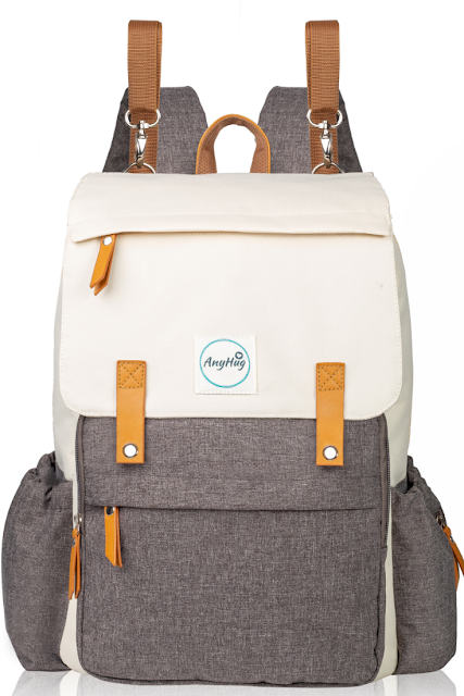 AnyHug Diaper Bag Backpack in Cream