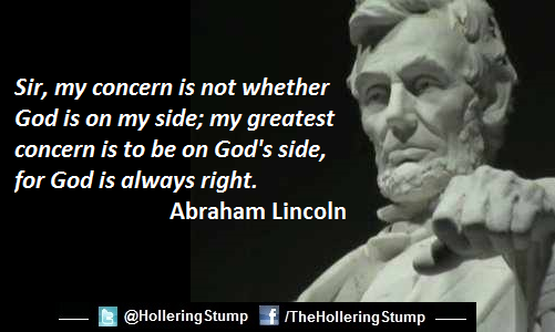 abraham lincoln sir my concern in not