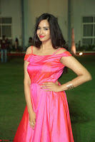 Actress Pujita Ponnada in beautiful red dress at Darshakudu music launch ~ Celebrities Galleries 003.JPG
