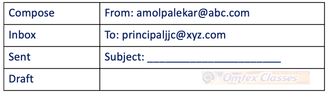 B. Attempt any one (01.) Email: (04 Marks) You are the student of JJC college, you want to fill the scholarship form to get