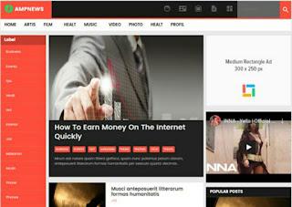 AMP News Blogger Templates