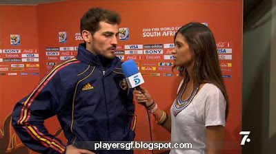 Casillas and his hot girlfriend