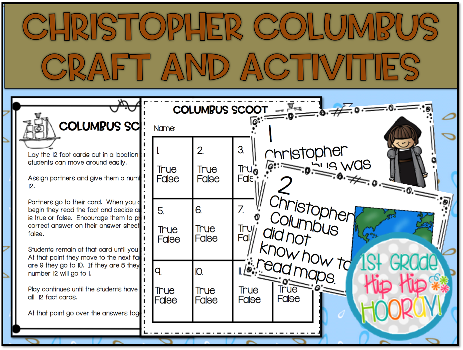 1st Grade Hip Hip Hooray Christopher Columbus