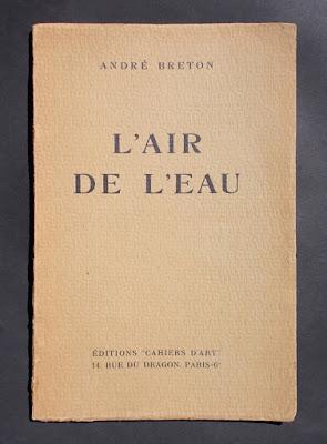 Andre Breton - L'air de l'eau - edizione originale - 1934 - libri rari - annunci