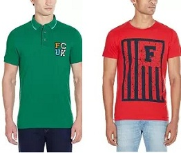 French Connection Men's T-Shirts – Flat 60% – 85% Off @ Amazon