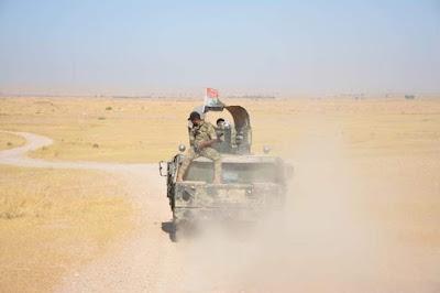 اللواء الرابع بالحشد الشعبي ينفذ عملية أمنية في قاطع عمليات بحيرة حمرين