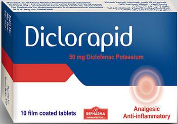 سعر ودواعى إستعمال دواء ديكلورابيد Diclorapid للعظام