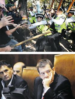 El enfrentamiento entre la Policía Metropolitana y  manifestantes derivó en la interpelación del ministro Guillermo Montenegro