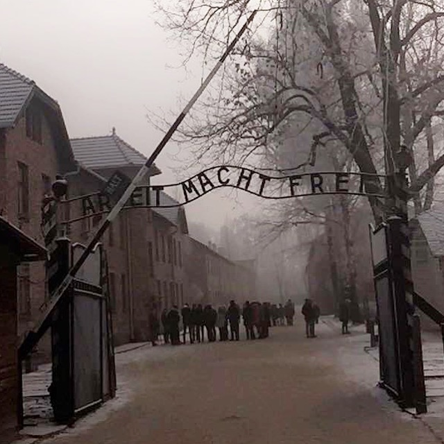 Entrance to Auschwitz Birkenau