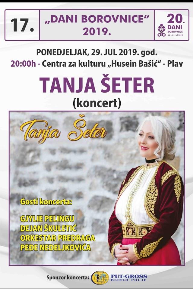 Koncert Tanje Šeter u 20 časova
