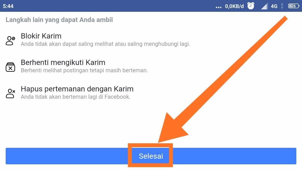 Cara MENONAKTIFKAN FB sementara lewat HP
