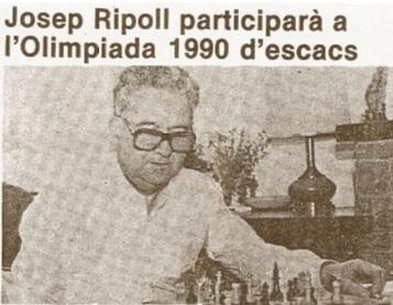 Josep Ripoll en 1990