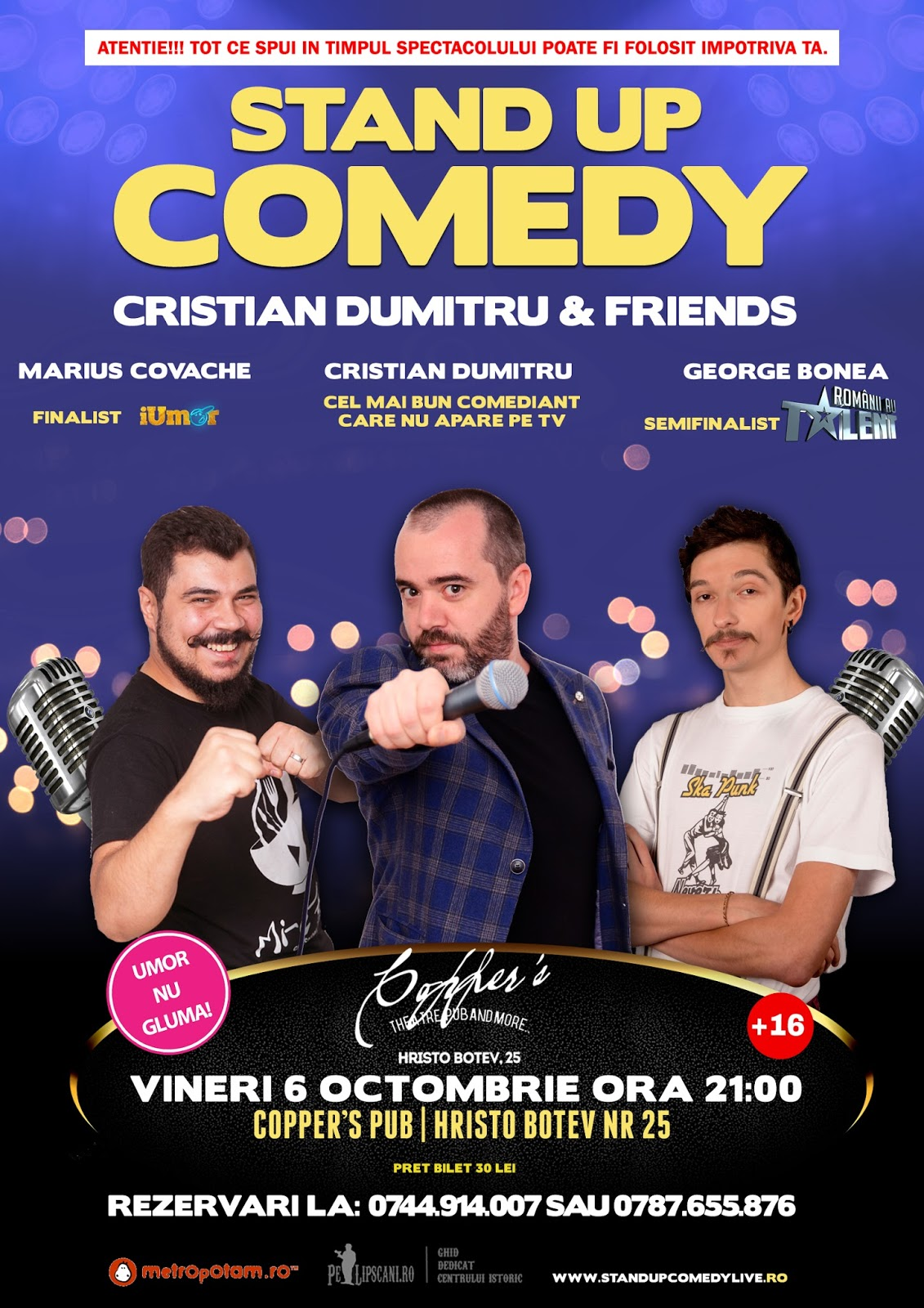 Stand-Up Comedy Bucuresti Vineri 6 Octombrie