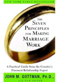The Seven Principles of Making Marriage work