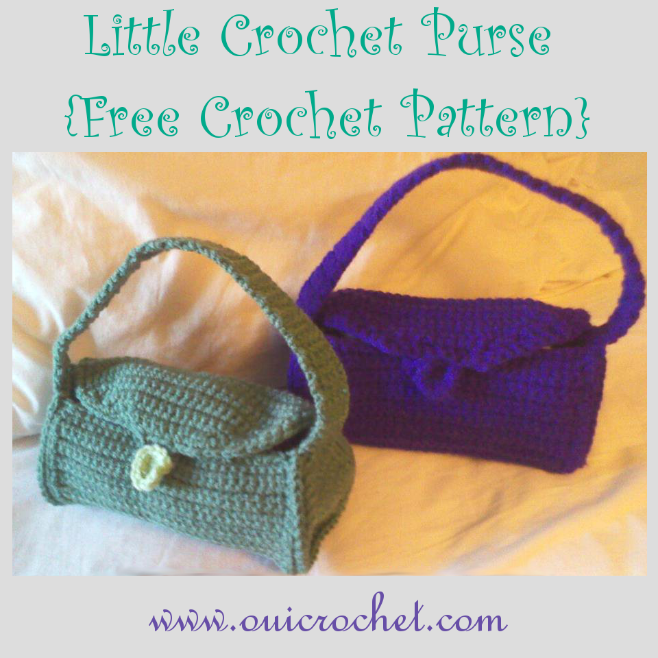 Crochet, Free Crochet Pattern, Little Crochet Purse Pattern, Crochet Purse, Kid's Purse, Purse for Teens,
