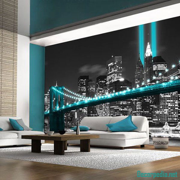 fluorescent 3D wallpaper murals and designs 2019