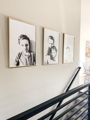 large pictures using poster frame