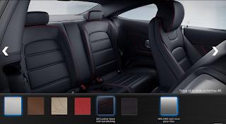 Nội thất Mercedes AMG C63 S Edition 1 2015 màu Đen Leather chỉ Đỏ 241