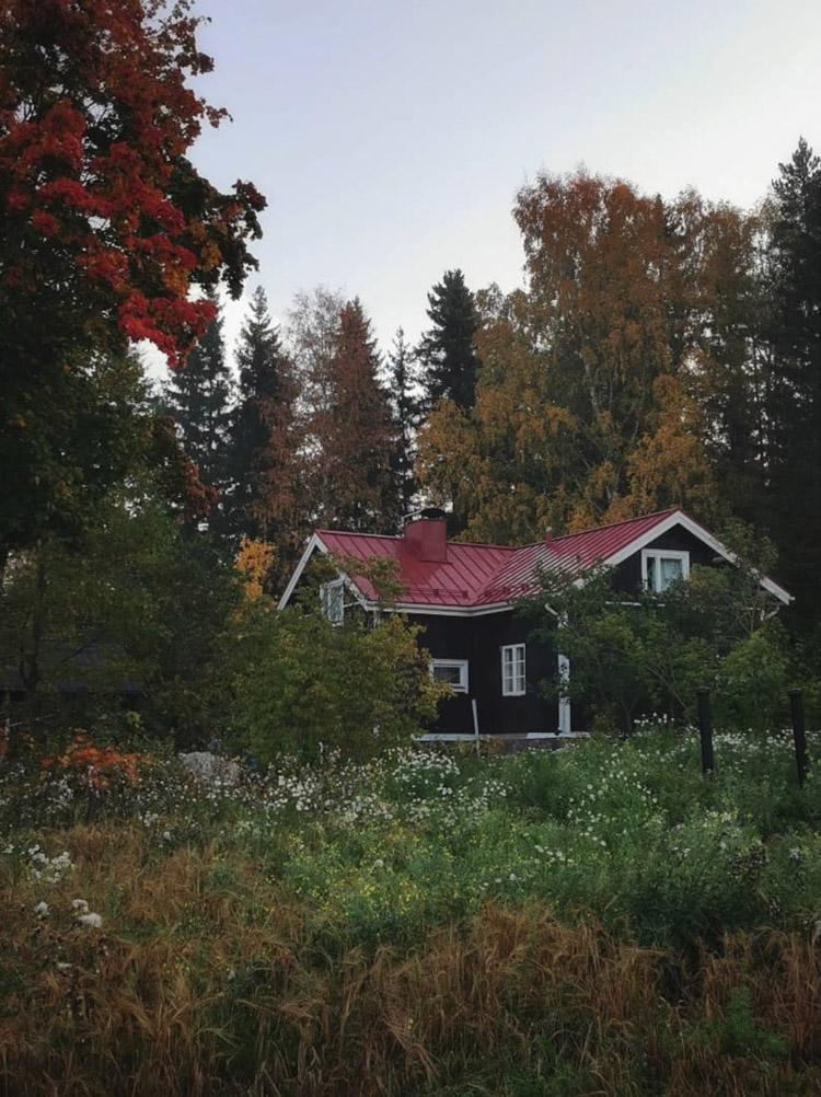 Kati's Rustic 19th Century Log House in Iitti, Finland