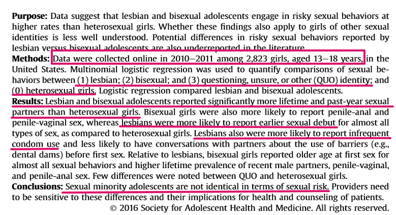 risky sexual behavior in the article sexual behaviors and partner characteristics by sexual identity